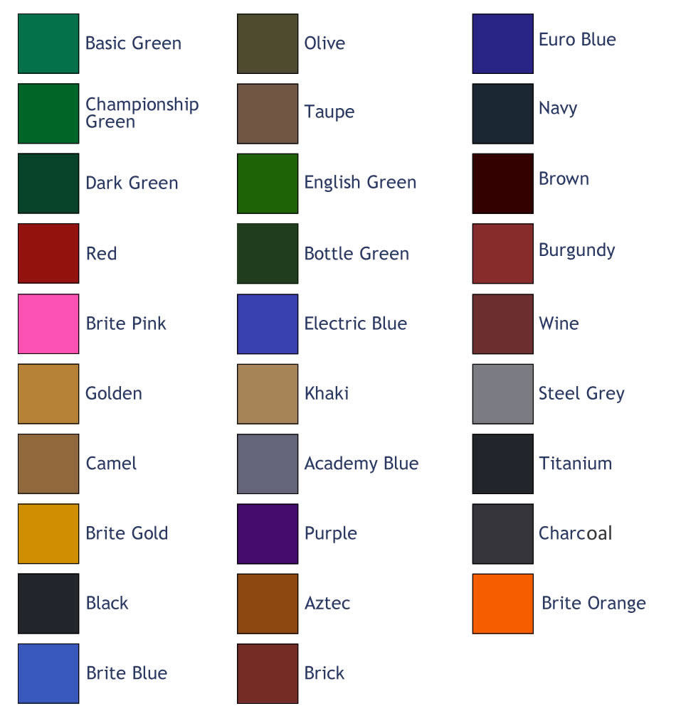 Good Pool Table Cloth Colour Chart